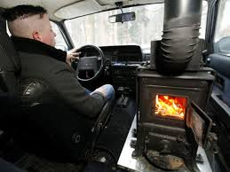 car with chimney