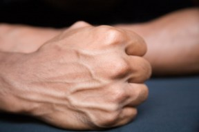handsome male hand isolated