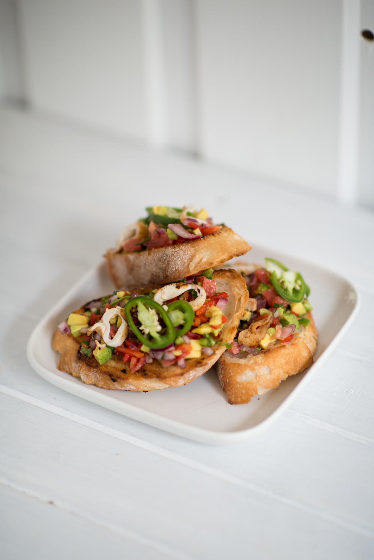 squid bruschetta | Straddie | Eat, Drink and Be Straddie | stradbrokeislandphotography.com