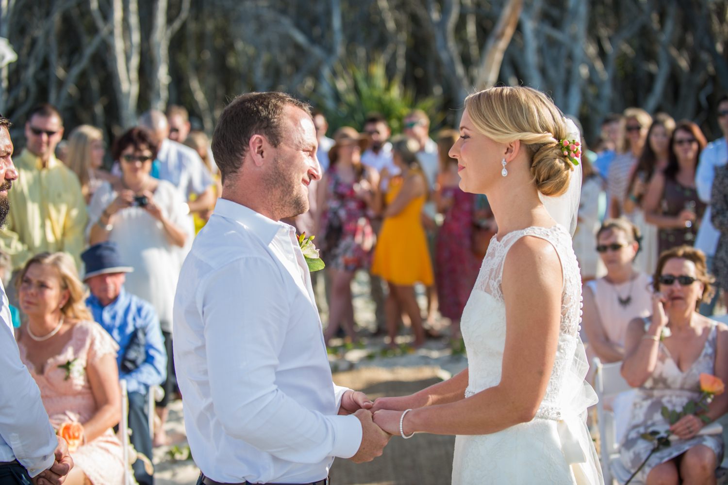 Point Lookout wedding | Kassia and Shane | ceremony on Home Beach, Point Lookout, North Stradbroke Island | wedding videographer