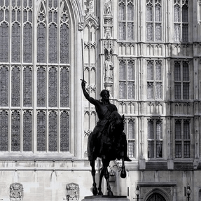 Picture of Richard Coeur de Lion (Lionheart) , Houses of Parliament, London - Titelbild zu den Infos zum Strafverfahren