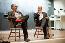 Late New York Times journalist David Carr and Director of the Center for News Literacy Dean Miller.