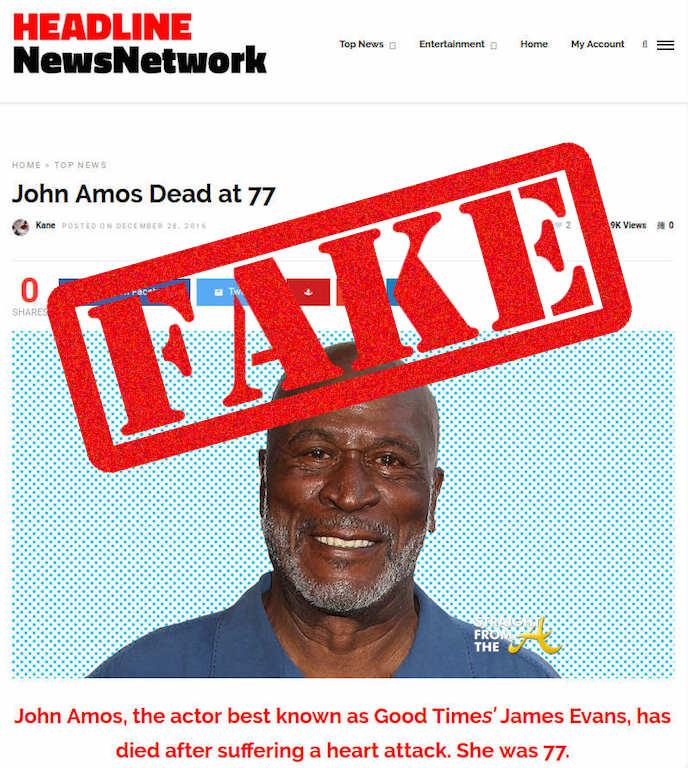 Rumor Control: Actor John Amos is NOT Dead...