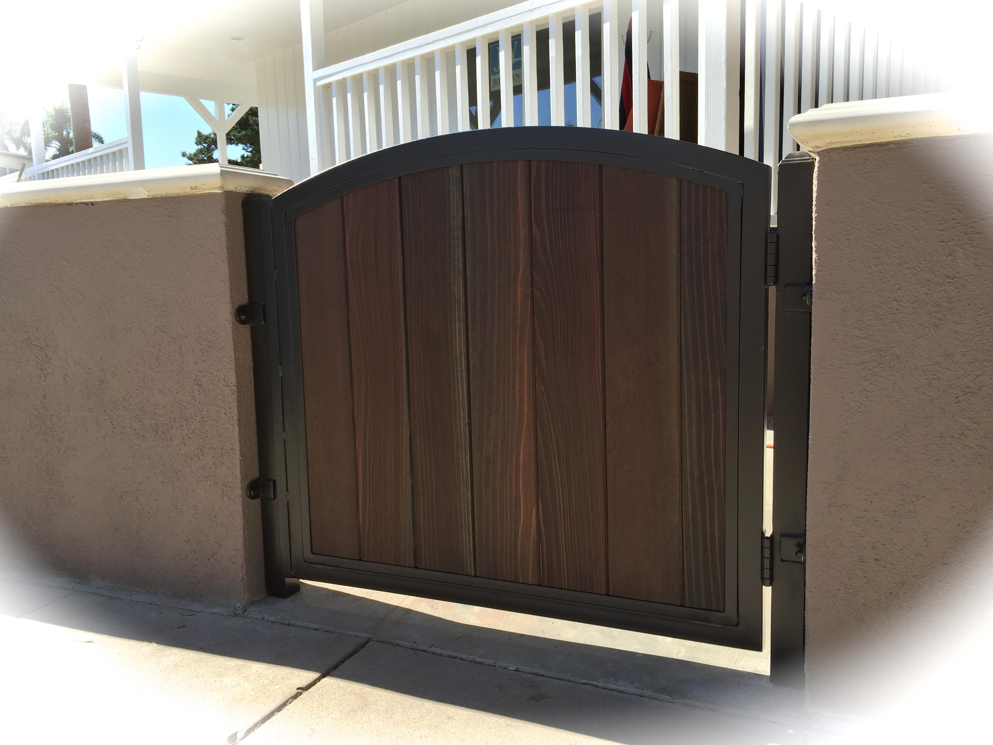Steel Framed Wood Walk Gates