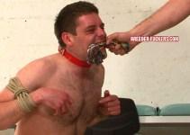 Breeder Rob struggles through cruel dog training session