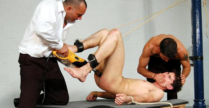 #Classic: Harry suffers ass caning and a machine-fucked hole