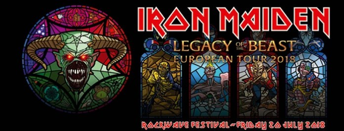 Iron Maiden @Rockwave Festival 2018 / Poster