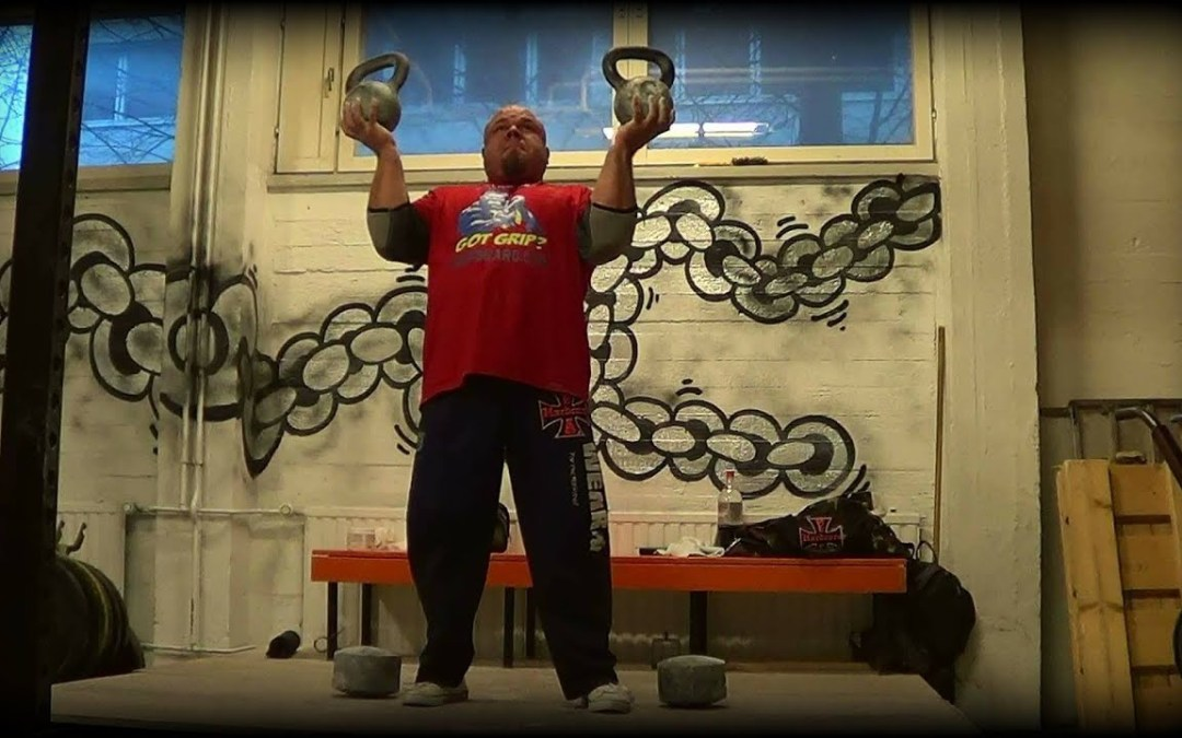 Double Kettlebell Bottom-Up Clean