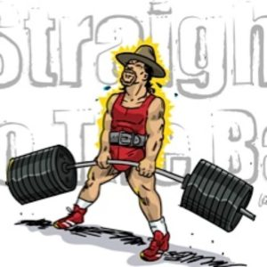 Drawing of Scott Andrew Bird performing a deadlift. Artwork by Vince Palko.