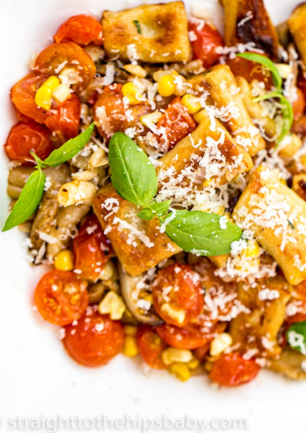 Potato Gnocchi with Late Summer Vegetables
