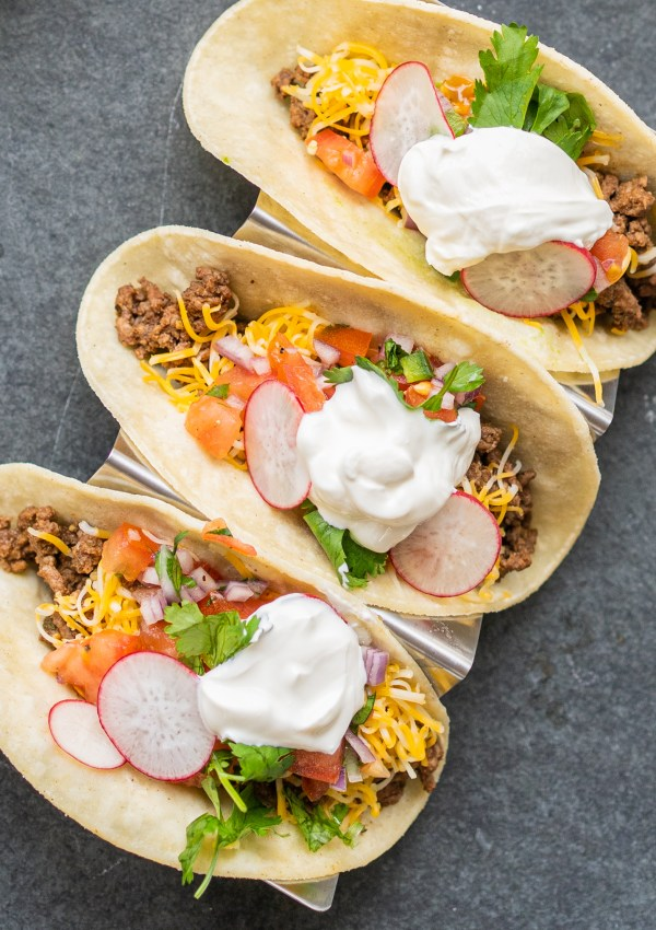 Zesty Beef Tacos & Cilantro Lime Crema