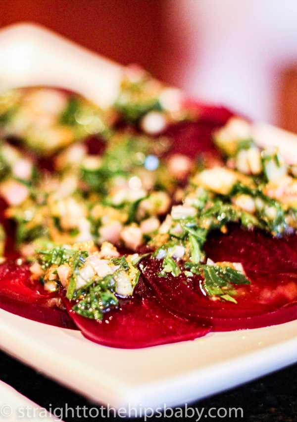 Roasted Beet Salad with Shallot Dressing