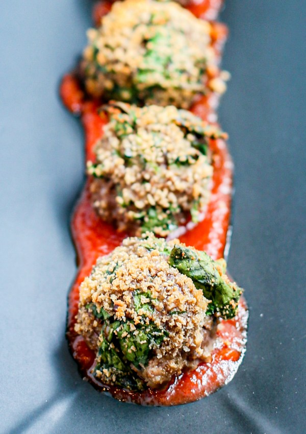 Crispy Baked Meatballs (with Secret Spinach!)