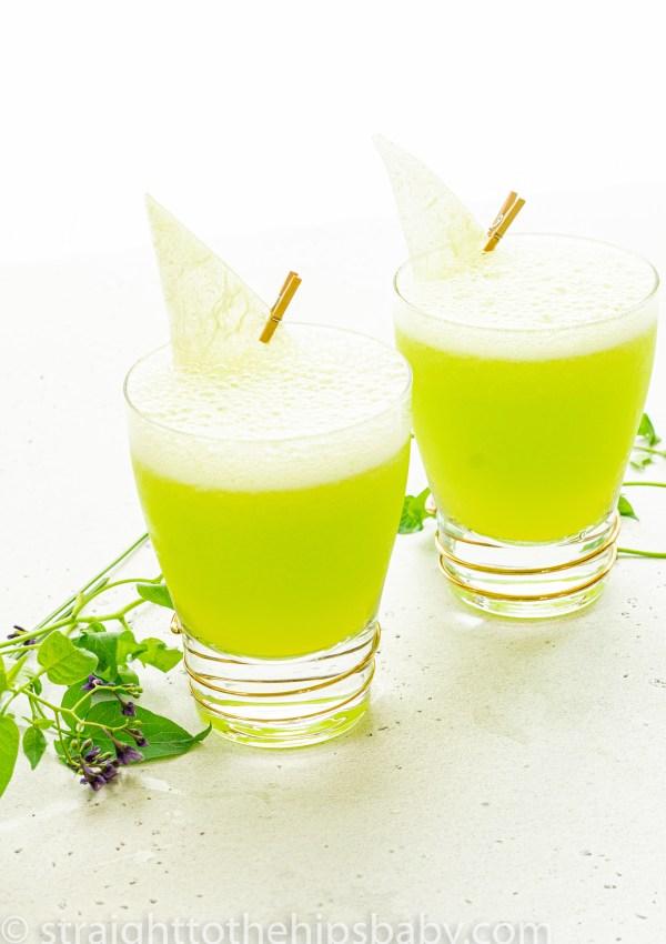 Frozen Melonball Cocktail