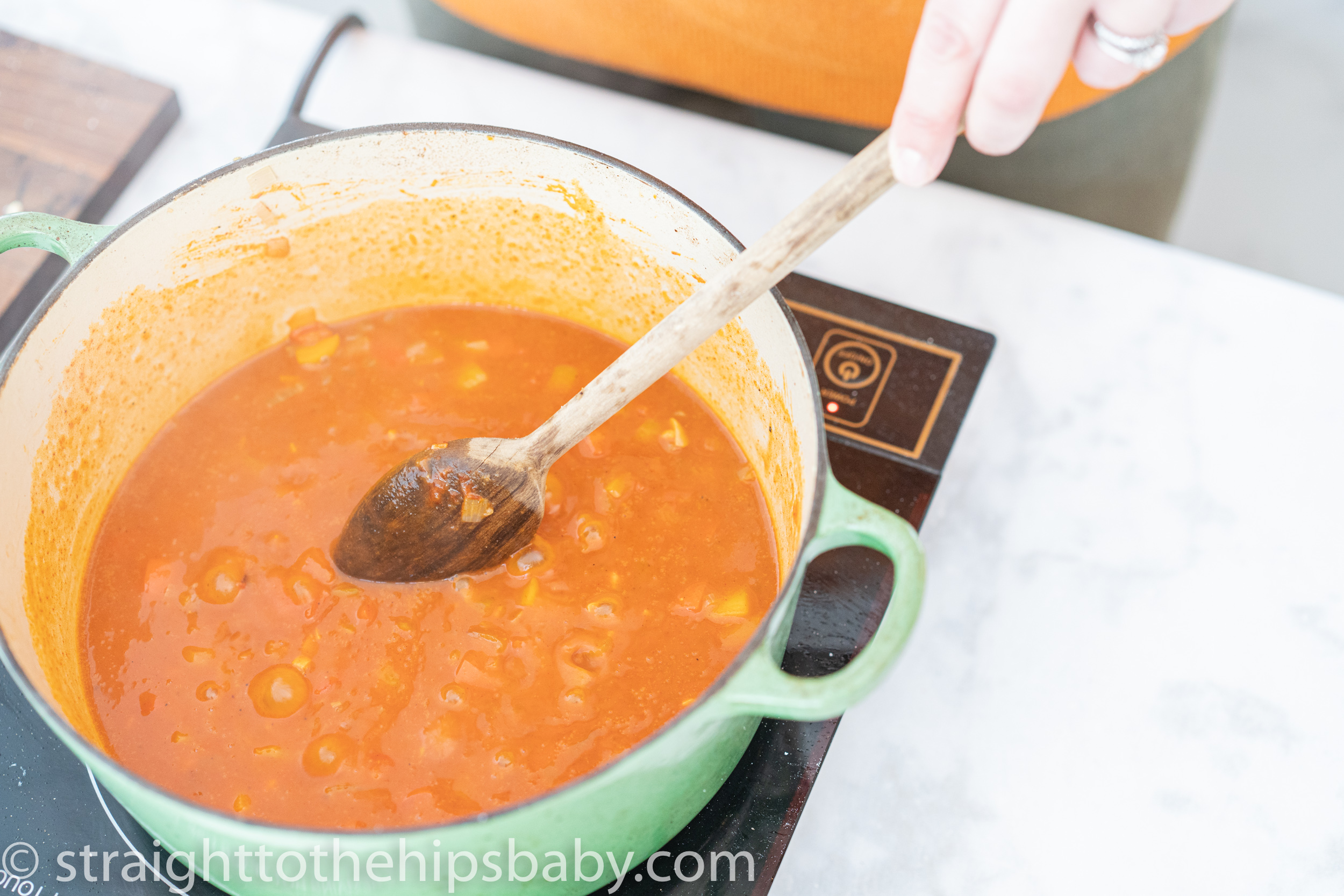 a smooth and thicken paprikash sauce