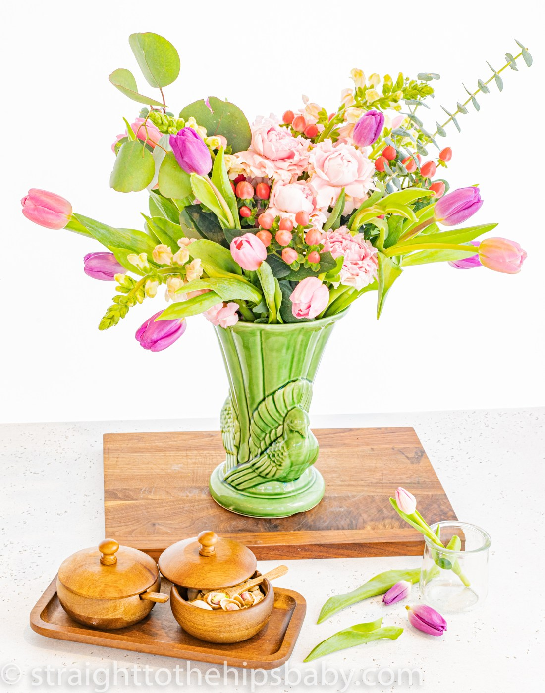 finished Easter or Passover dinner bouquet for