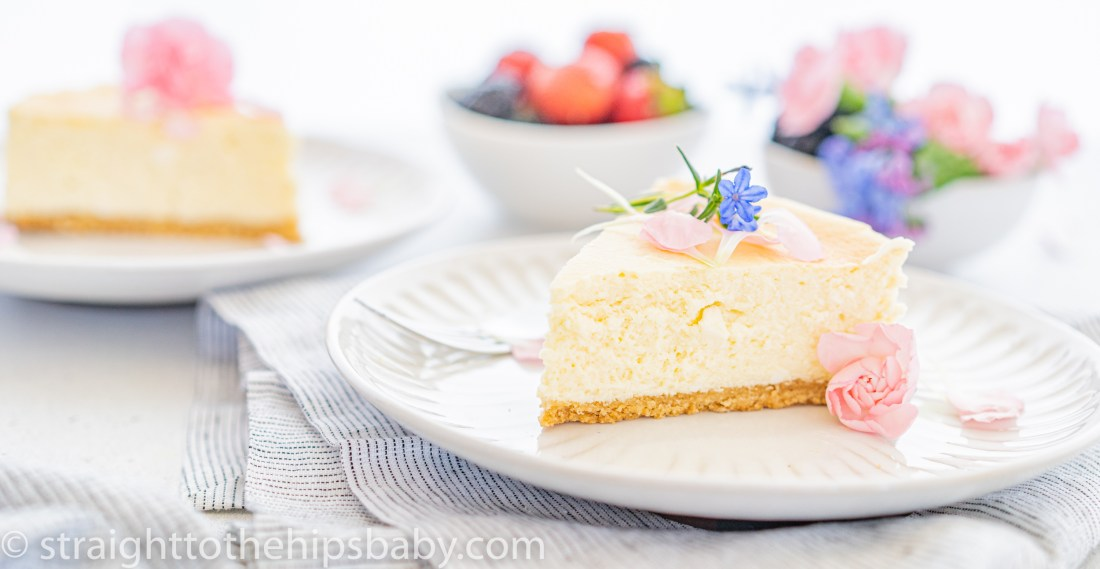 2 pieces of toasted sesame gluten free sugar free cheesecake
