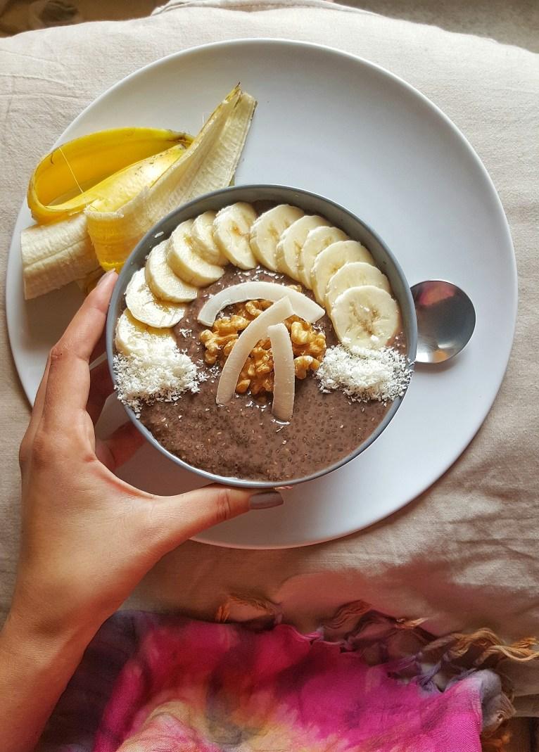 Simple chocolate pudding