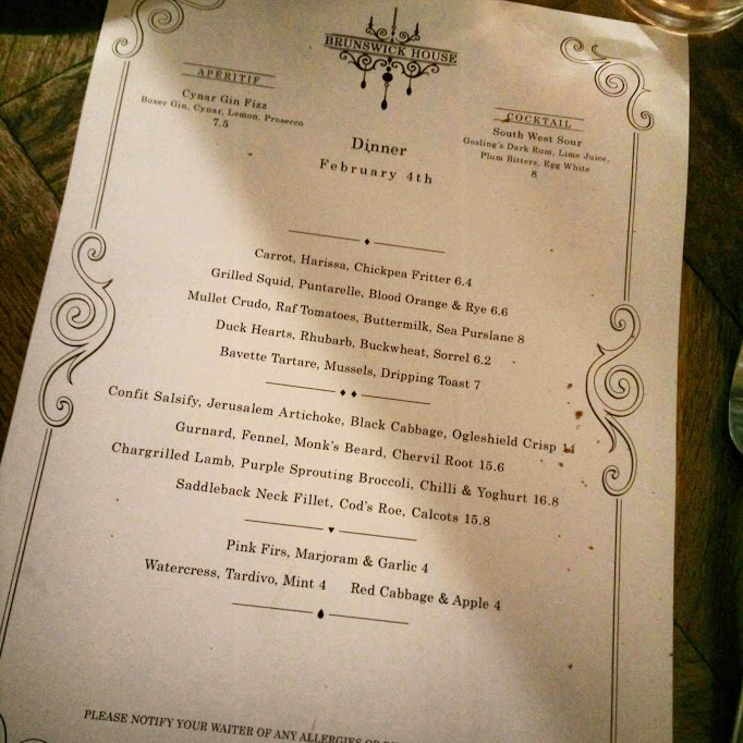 The beautiful menu