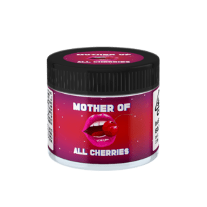 Mother of All Cherries Glass Jars. 60ml suitable for 3.5g or 1/8 oz.