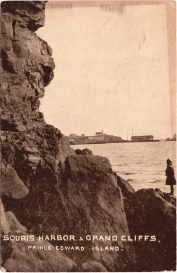 Souris Harbor and Grand Cliffs. Warwick Bros & Rutter card # 5247. Photo by W.S. Louson.