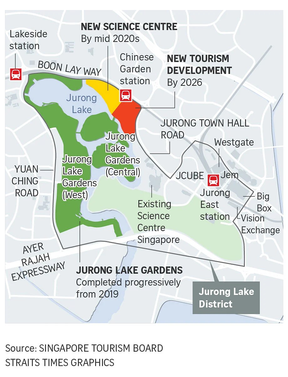 Singapore District Map : singapore, district, Singapore, Attractions, World