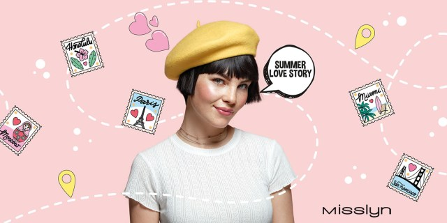 Misslyn: Summer Love Story: A model dressed in a cute beret and makeup