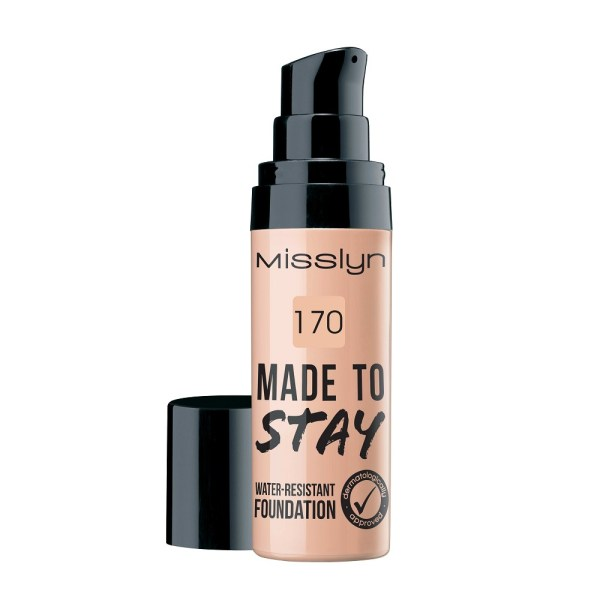 M4370.170 misslyn made to stay water resistant foundation natural beige