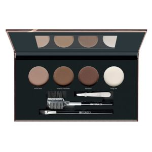 artdeco most wanted brow palette light medium (open)