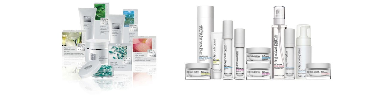 Makeup Category: An array of skincare products