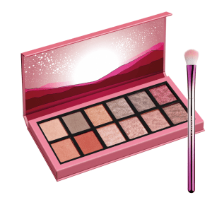 misslyn desert night eyeshadow palette No 2 +misslyn shade & blend eyeshadow brush