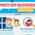 Deze infographic laat jou zien waaruit een perfect skype sollicitatiegesprek uit bestaat
