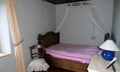 Ferienhaus Belgien Zimmer mit Bett