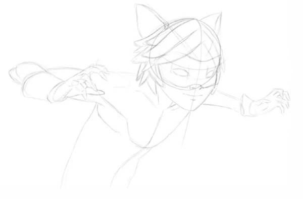 Как нарисовать Леди Баг и Супер Кота