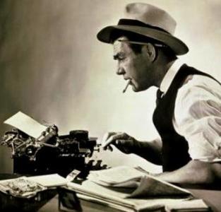 советский журналист за работой