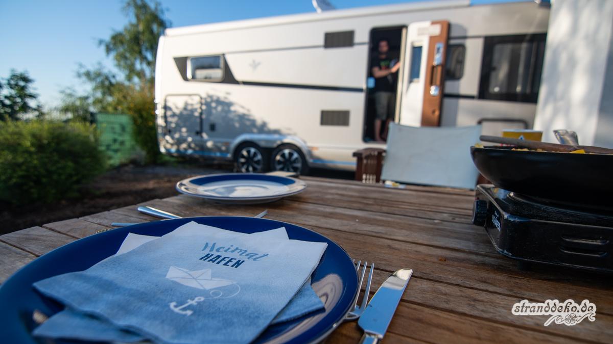 180505 StranddekoCastle Welcome 006 - Umzug mit Wohnmobil - die Marilyn bekommt ihr eigenes Duschhaus