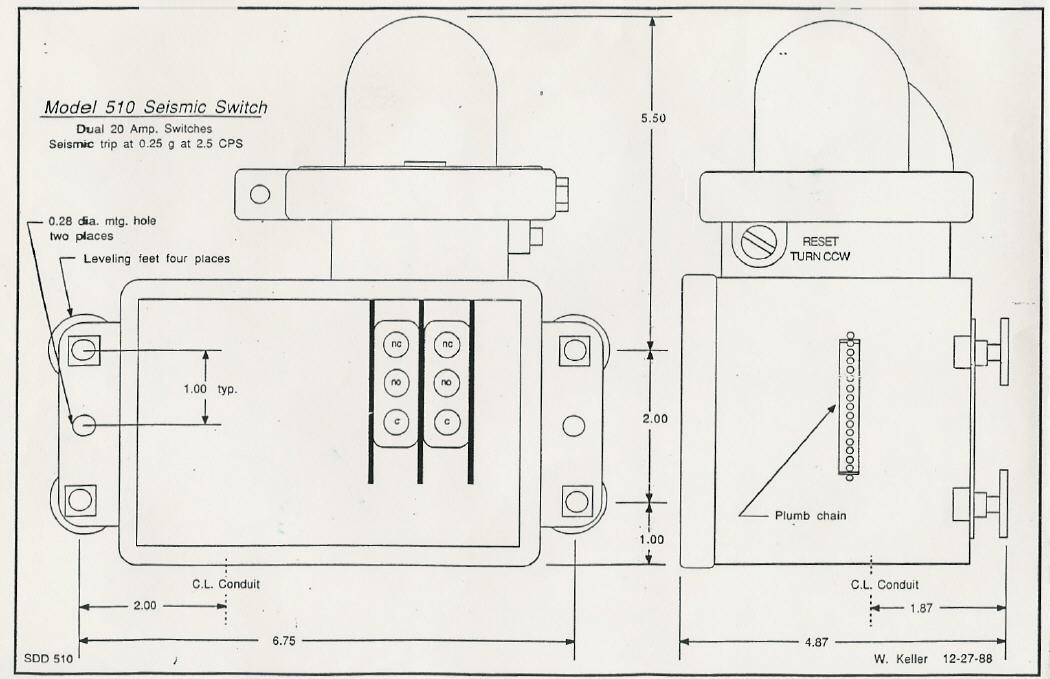 Strand :: Model 510 Seismic Switch
