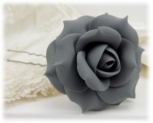 gray rose hair pins