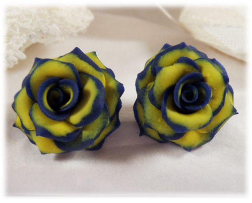 blue tipped yellow rose