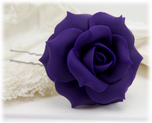 purple rose hair pins