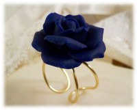 Large Blue Rose Ring | Large Blue Flower Ring - Stranded ...
