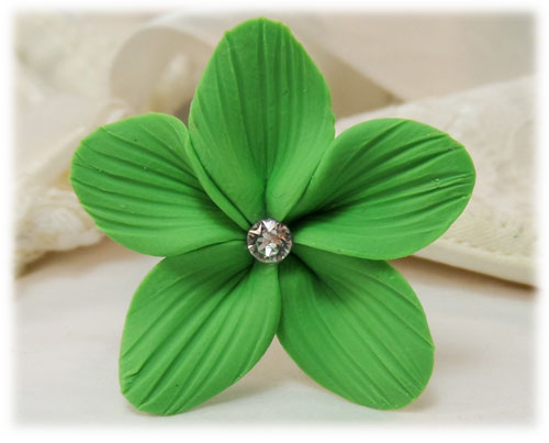 Green Hair Flowers Green Flower Wedding Hair Pins
