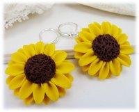 Large Yellow Sunflower Earrings - Stranded Treasures