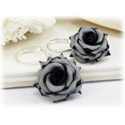 gray flower jewelry gray