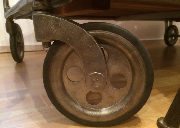 vintage industriedesign, Bauhaus, Rollwagen, Rowac, Küchenwagen, Industriewagen