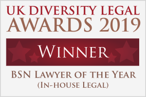 UKDLA WINNER_BSN Lawyer of the Year (In-house Legal)