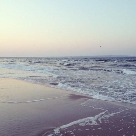 Binzer Strand am Abend