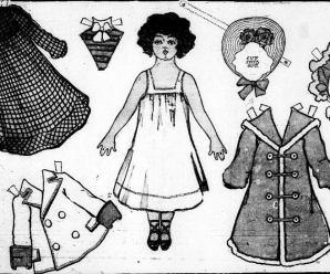 Bonnet Paper Doll Cut Out