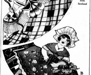Scotland And Sardinia Paper Dolls