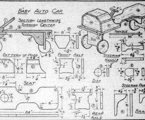 Baby Auto Car Wood Plans From 1917